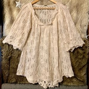 Free People Lace Crochet Tunic Dress